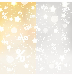 Abstract yellow and gray dots stars and sale vector