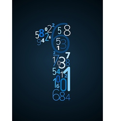 Number 1 font from numbers vector