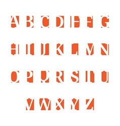 Set of alphabet symbols icons orange vector