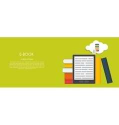 E-book  flat computing vector