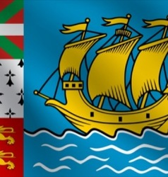 Saint pierre and miquelon flag vector