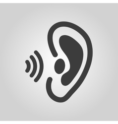 The ear icon sense organ and hear understand vector