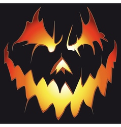 Scary pumpkin vector