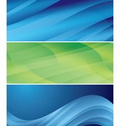 abstract wavy headers - set vector image