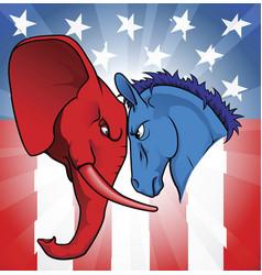American politics vector