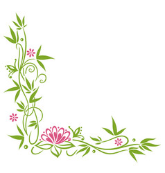 bamboo lotus flower vector image vector image