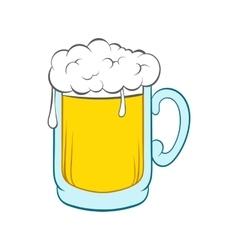 Beer mug icon in cartoon style vector image vector image