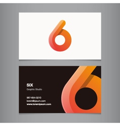 Business card number 6 vector