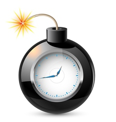 clock in a bomb vector image vector image