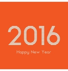 Creative happy new year 2016 design vector image vector image