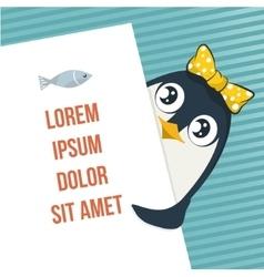 Cute penguin vector image