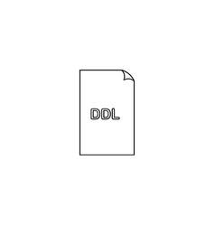 ddl file icon vector image