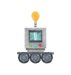drawing technology robot bulb light display vector image