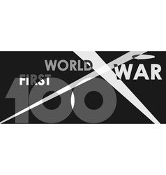First world war centenary vector