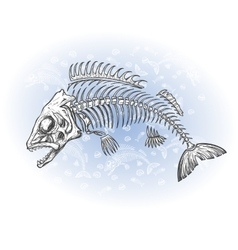 Fish bone drawing vector