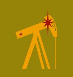 Flat icon on theme arabic business oil derrick vector