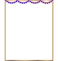 Frame american flag garland vector