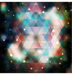 Galaxy background of triangle shapes vector image vector image