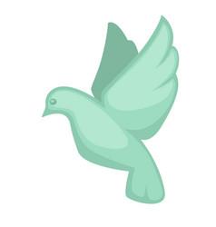 glass dove souvenir toy symbol in flat design vector image vector image