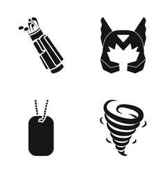 Golf clubs mask and other web icon in black style vector