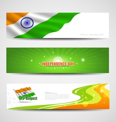 India independence day banner background vector image vector image