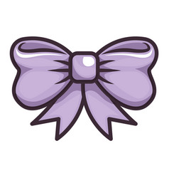 Isolated cute bow vector