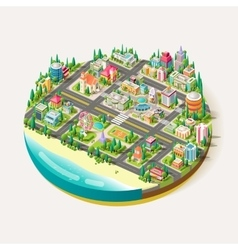 Isometric city business center vector image vector image