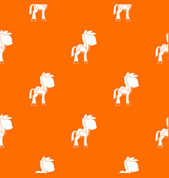 little pony pattern seamless vector image