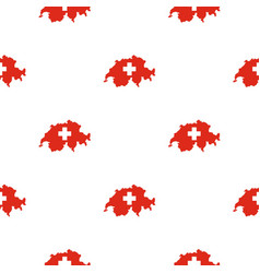 Map of switzerland pattern seamless vector