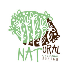 Natural label original design logo graphic vector