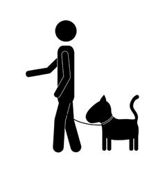 Pet dog icon image vector