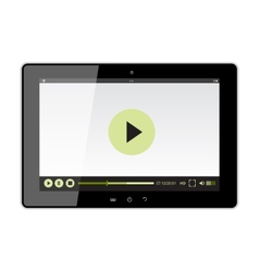 tablet design with web player vector image