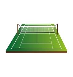 Tennis court field game sport icon vector