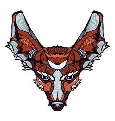 Zentangle happy fox vector