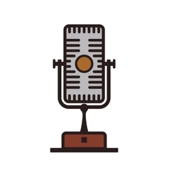 Microphone technology retro vintage icon vector