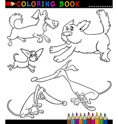 Cartoon Dogs or Puppies for Coloring Book vector image