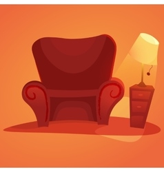 Cozy home stuff isolated object background vector