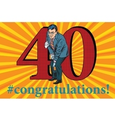 Congratulations 40 anniversary event celebration vector image