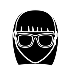 Hipster woman icon vector