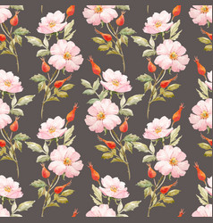 Watercolor floral summer pattern vector