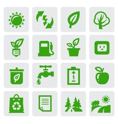 green eco symbols vector image