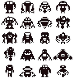 Pixel robot collection vector