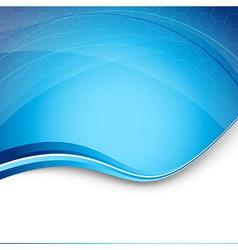 Hi-tech blue modern background template vector image