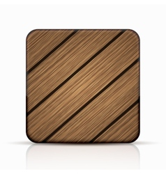 Modern wooden icon vector