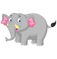 Happy elephant cartoon vector