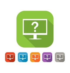 Color set of flat computer assistance icon vector