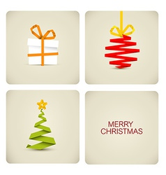 Simple christmas decoration made from paper vector