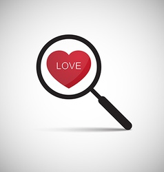 Love heart magnify vector