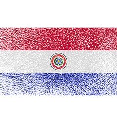 Flag of paraguay with old texture vector