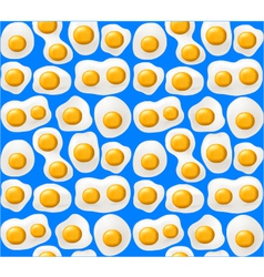 Fried eggs seamless background vector